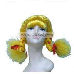 MCW-0394 Party Masquerade synthetic short women Hot straight yellow braids wig
