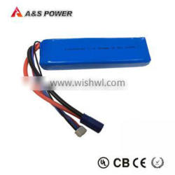 11.1V 45C 4500mAh mini rechargeable lipo Helicopter Battery 8043150