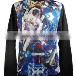 sublimation all over print crewneck sweatshirt high quality 100% cotton material