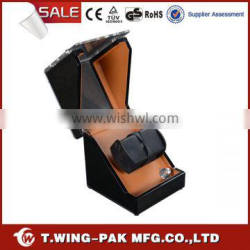 Material wood and velvet, handmade, automatic watch movement box&case, watch winder for sale