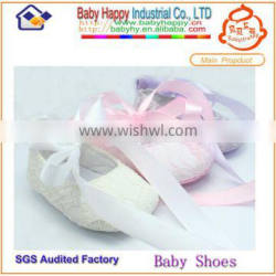 Freeship soft-soled First step ivory lace baby shoes
