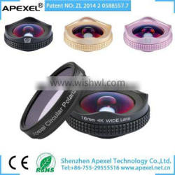 APEXEL 16mm 4K wide Lens with CPL for mobile phone iPhone Samsung HTC Xiaomi Huawei