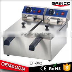 china supplier commercial kitchen equipment 2 baskets electric continuous fryer for sale EF-062