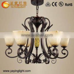 Hotel Rooms Iron resin chandeliers,Retro resin large chandelier
