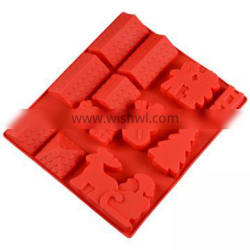 Free Sample Food Grade Silicone Cake Mould Baking Mousse Pudding Mould Tool