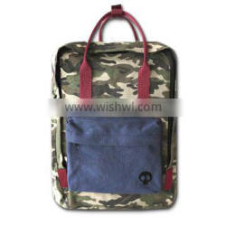 canvas camouflage backpack, cotton backpack