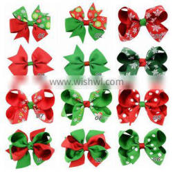 Hot sale Metal Hair Clips christmas bowknot alligator Clips for kids