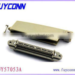 All Plastic TYCO 90 Degree Receptacle Solder Type Champ 50 Pin Socket Connector 2.16mm Pitch
