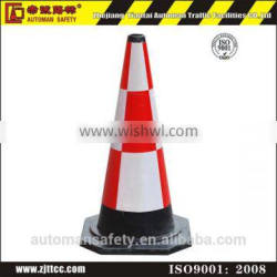 High Visibility Orange Rubber Safety Road Cone