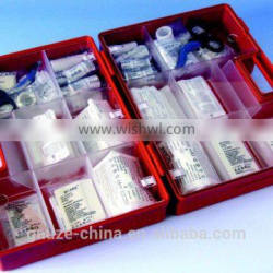 DIN 13164 first aid ABS kit wall mounted box