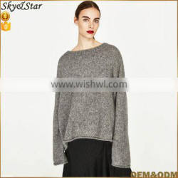 OEM Newest Lady Sweater Oversize Long Sleeve Soft Winter Pullover
