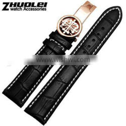 19|20|21|22mm high quality imported alligator leather Watch strap Wholesale 3PCS