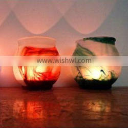 glass candle holder for wedding favors bar decors