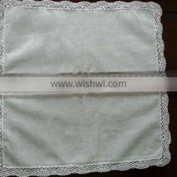 handkerchief with cotton lace hem for ladies