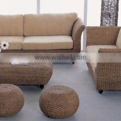 Natural material Living room furniture (Hand woven by wicker,hyacinth & wooden frame )