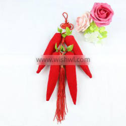 Chinese knot decorate bamboo charcoal odor absorber bag
