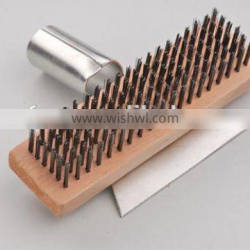 cleaning brush steel wire brush with scraper