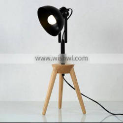 Wooden table lamp vintage edison lights for antique style lamps