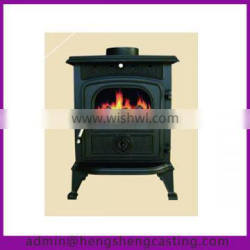 indoor antique stove with cast iron burners