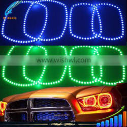 Oracle lighting multi color rgb halo rings for pickup trucks dodge charger 2011--2014