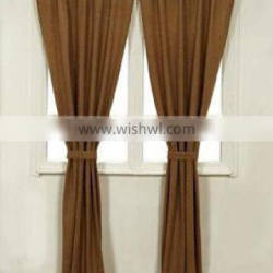 Designer faux burlap drapery and curtain with tiers