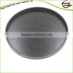 Black Round Kitchen Reusable Coffee Cup Wood Tray