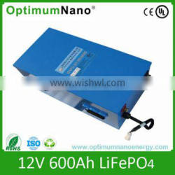 long lifecycle 12v 600ah lithium battery for solar power system
