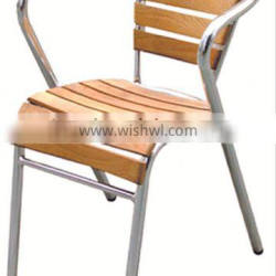 Aluminum wood italian style table and chairs