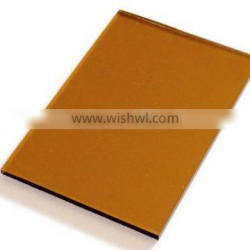 3-12mm golden painted glass for decoration