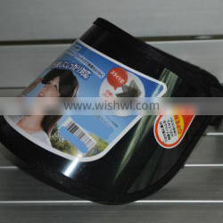 Factory direct sell UV Protection outdoor sun visor hat cap with customer stiker and black cord
