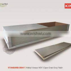 STANDARD GRAY China casket wood veneer wood coffin for cremation from china