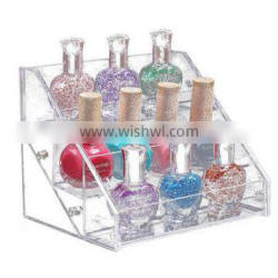 3 Tiers Acrylic Makeup Organizer Nail Polish Display Stand Cosmetic Container Removable(NP-B-0236)