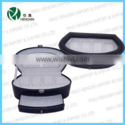 HX-W5017,leather watch display box,hot selling wholesale cheap brand watch boxes cases with tranparent window