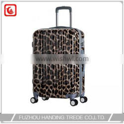 hot selling beautiful leopard print luggage for women