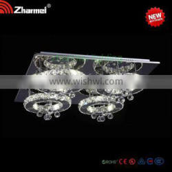 Fashionable Best-selling four ring shaped Crystal decoration Ceiling Lamp/light