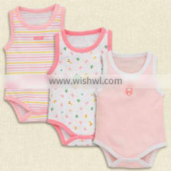 Wholesale High Quality Custom Logo NO Sleeve Baby Rompers Clothes Animal Pattern