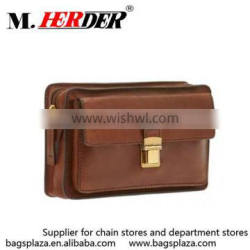 M5006 Alibaba express qaulited brown leather bag with buckle man clutch bag