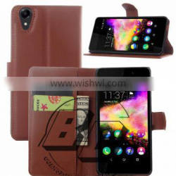 Best Quality Magnetic flip leather wallet case with card slots For Wiko Rainbow up luxury leather case factory price