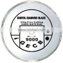 Small continuous rim diamond Saw blade for chip-free cutting extremely hard and brittle material----GECB