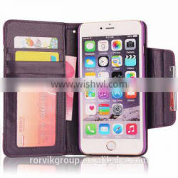 flip stand PC+PU leather case cover For iPhone 6 plus , case For iPhone 6 plus with card holder