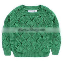 Baby boy rhombus sweater designs pullover thick cardigan for 2 to 7 years old boy