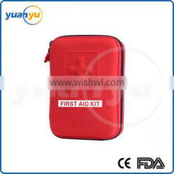 2016 hot sell CE FDA ISO approved red good quality EVA outdoors adventure first aid kit