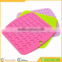 Small Smooth Angle Square Silicone Placemat Cup Mat Coaster Place Mat