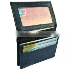 Money clip credit leather ID card holder