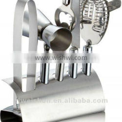 5-pc bar set tool with a stand