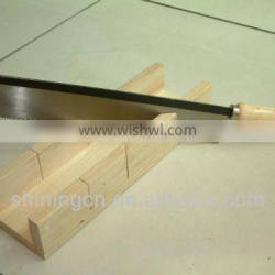 mitre box with wooden