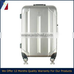 ABS waterproof oil proof ABS+PC travel trolley hard shell printing promotion aluminum frame suitcase in 20, 24, 28