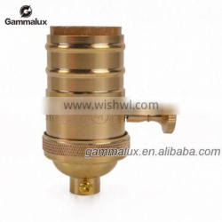 E26 Brass Lamp Socket with Rotary Switch