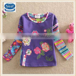 3 colors (L220) 2-6Y girl child top manufacturer cheap baby t shirts kids lovely tops