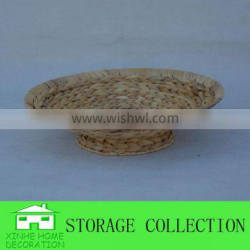 Round Natural Water Hyacinth Woven Table Fruit Tray